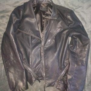 Women's large leather jacket